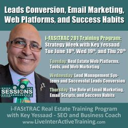Week of June 18th Sessions: Leads Conversion, Web Platforms, and Real Estate Success Habits - #LiveTrainingRE