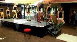 Just Socks Fashion Show Rehearsal
