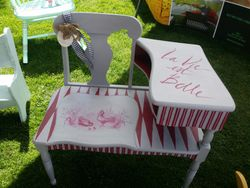 French Country Gossip Bench