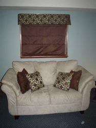 Roman Shade & Throw Cushions