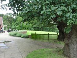 Putting green & patio area