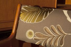 EMBROIDERED LINEN UPHOLSTERED CHAIRS