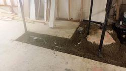 Full bath ground work