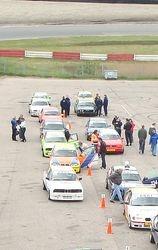 Opstellen voor race 2 (p20) welke helaas niet door zou gaan ivm ongeval op de baan