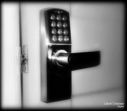 Numerical Key pad door lock installation