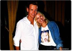 Tomas Berdych and Karolina Kurkova