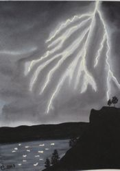 Lightning in Watercolour