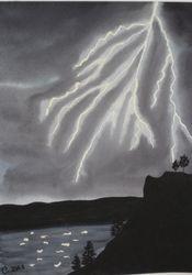 Lightning in Watercolour