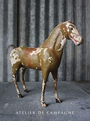 #28/091 FRENCH PAPER MACHE HORSE