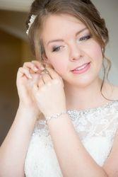 Beautiful natural flawless airbrush makeup and Elegant updo