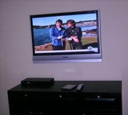 Premium TV Installation over dresser