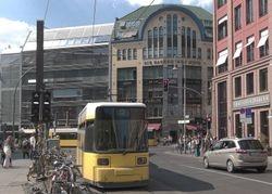 Unidentified Adranz trams, by Hackescher Hofe.