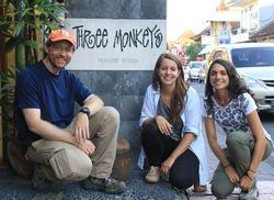 One of these hard field work days for JB Leca, Elenora Neugebauer, and Silvana Sita (Ubud, Bali, June 2016)
