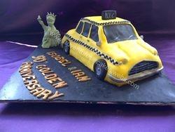 new york taxi  aniversary cake.