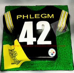 Pittsburgh Steelers Football Jersey Cake