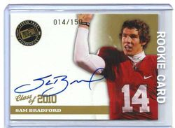 2010 PRESS PASS SAM BRADFORD ROOKIE AUTO #14/150 1/1 JERSEYSY #14