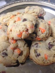 Fall Chocolate Chip Cookies