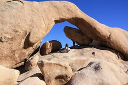 Natural arch in Joshua Tree National Park CA