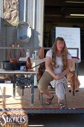 Marsha Judd talks to the audience.