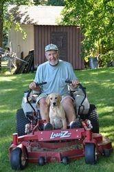 Bode the gardener with Grandpa