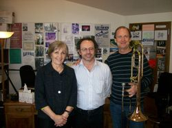 Paul, Gail Williams, Michael Mulcahy, at Northwestern University, April 2011