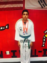 July 4-10-2015  USAT  National  Championships Austin Texas  Joshua Arellano 1st Place Sparring 3rd Place Breaking