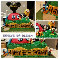 Elaborate Mickey's Clubhouse Cake
