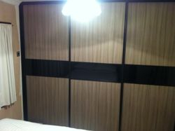 Drift wood doors with black surround