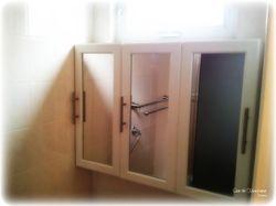 Bathroom cabinet installed
