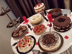 Dessert table .