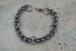 Steel segmented rope chain bracelet