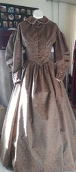 1850's walking dress Front
