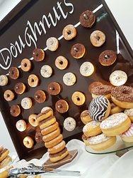 Doughnut wall display hire.