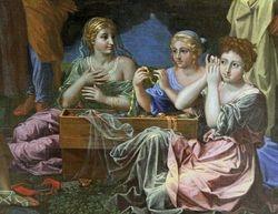 Poussin, Achilles Among the Lycomedes, detail, Richmond