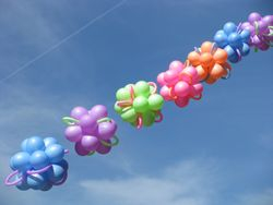 Neon Balloon Clusters for A-rts Festival
