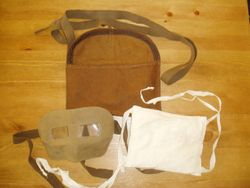 Eye shields £20, mouth pad £12, Bag £15