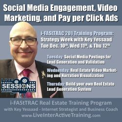 Week of December 10th Sessions: Social Media Engagement, Video Marketing, and Pay per Click Ads - #LiveTrainingRE