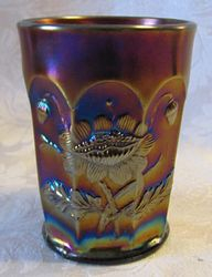 Oriental Poppy tumbler, purple