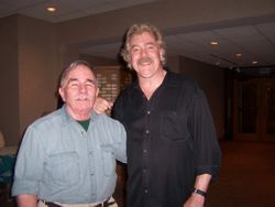 Jim with Tom Rush at Golden Link Concert