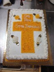 Cross Sheet Cake