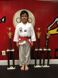 05/16/2015 S. Pavlou TKD Championships  Jonathan Nguyen  2nd Place Forms  2nd Place Breaking  2nd Place Sparring