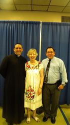 Padre Anthony, Madre Rossana y Felix Miguel
