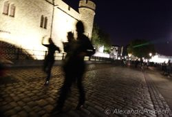 Dancing in front of The Tower