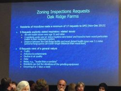 Zoning Inspection Requests by Woodbine residents of mulch facility