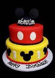 Mickey Mouse cake with ears