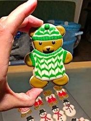 Boy Teddy Bear Cookie!