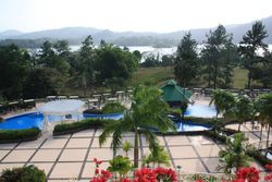 View of Pools and river at Gamboa Rainforest Resort
