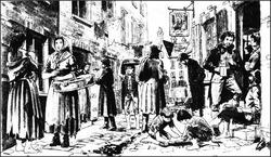 Street scene, 1790s
