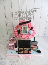 Hannah's 18th Birthday Make up and Gin Cake