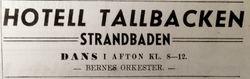 Hotell Tallbacken 1946